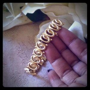 Vintage Monet Textured Rings Link Bracelet